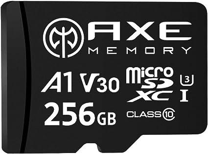 AXE Tarjeta de memoria microSDXC de 256 GB + adaptador SD con rendimiento de aplicación A1, V30 UHS-I U3 4K - AXP4K256: Amazon.es: Informática