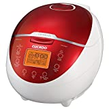 Cuckoo CR-0655F 6 Cup Electric Warmer Rice Cooker, 110v, Red