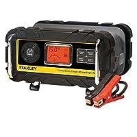 STANLEY BC15BS Cargador /mantenedor de batería de banco de 15 amperios y 12 amperios con arranque de motor de 40 A, comprobación del alternador, abrazaderas de cable