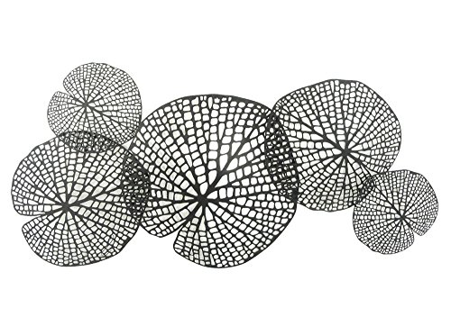 Sagebrook Home 11709 Metal Lotus Leaf Wall Decor, Black Metal, 39 x 1 x 18 Inches
