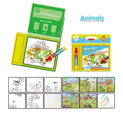 Tango Animal water Coloring Book with water pen for Kids Water Activity Book Paint With Water travel doodle book mat Drawing Book for toddlers children toy