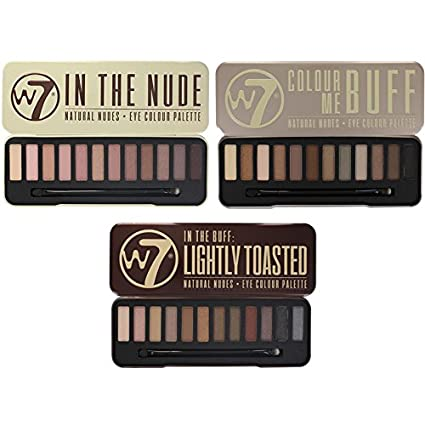 first look super cheap 100% quality W7 Colour Me Buff, In The Nude And In The Buff Lightly Toasted Eye Shadow  Palettes