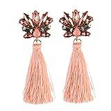 Earings Women Fashion Flower Drop Earrings Women Tassel Earrings Christmas Party Statement Long Jewelry Gift