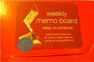 Weekly Memo Magnetic Schedule Board - 42 Inch