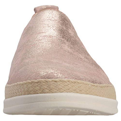 Rose Caprice Matellic Chaussures Femmes sans Panel Elasticated Lacets and 88Uwq64