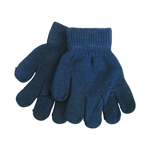 Gloves Magic Childrens (Navy Kids Gloves Magic Knit Gloves for Girls/Boys Solid Colors)