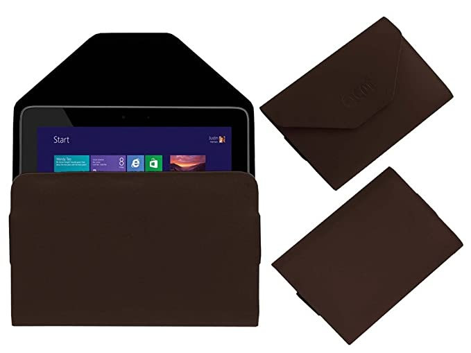Acm Pouch Case for Hp Omni 10 Flip Flap Cover Holder Brown Tablet Accessories