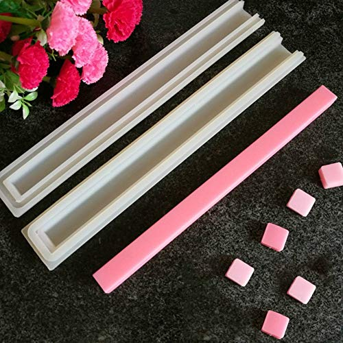 Echodo Square Tube Column Silicone Soap Candle Mold Embed Soap Making Supplies Silicone Mold for - Square Column