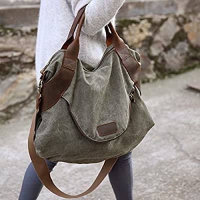 xiaoxiongmao 2017 Large Pocket Casual Women's Shoulder Cross body Handbags Canvas Leather Bags canvas tote bag