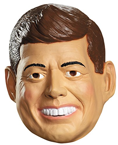 Disguise Men's John F. Kennedy Deluxe Funny Theme Party Vinyl Halloween Mask -