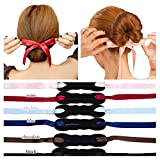 6 PCS Bun Maker Hair Bun Shapers Women Girls Beauty Crown and Donut Maker Donut Hair Style Hair Roller Headband Magic DIY Curler Roller Hair style Styling Tool Party Hair Accessories