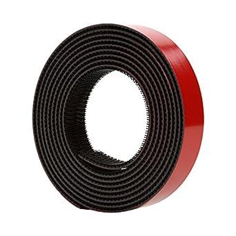 3M Dual Lock Reclosable Fastener TB3870 250/250 Black, 1 in x 10 ft, 2 strips