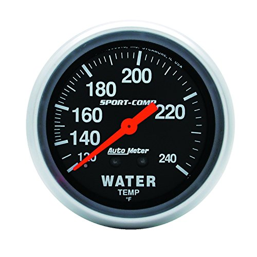 - Auto Meter 3433 Sport-Comp Mechanical Water Temperature Gauge