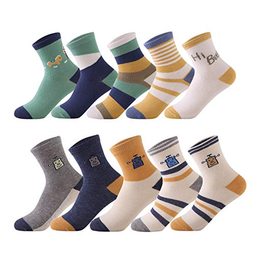 Baby Boys Toddler Non Skid Cotton Socks with Grip(2-5 Years) ()