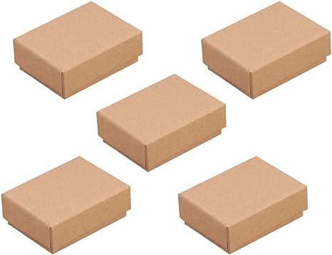 Amosfun - Cajas de cartón para joyas, collares, anillos, pendientes, cajas de regalo para cumpleaños, bodas, fiestas con esponja (5 unidades): Amazon.es: Grandes electrodomésticos