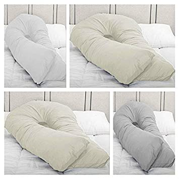 ARLINEN 9Ft Large Extra filled Big U Shape Duck Feather And Down Pillow Back And Neck Support Maternity Pregnancy Nursing Support
