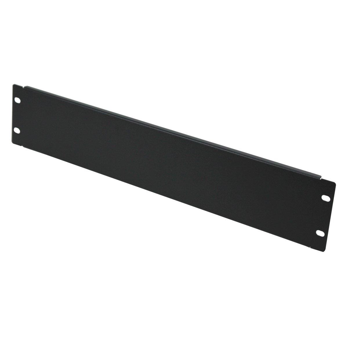 Navepoint Blank Rack Mount Panel Spacer For 19-Inch Server Network Rack Enclosure Or Cabinet Black (2U)