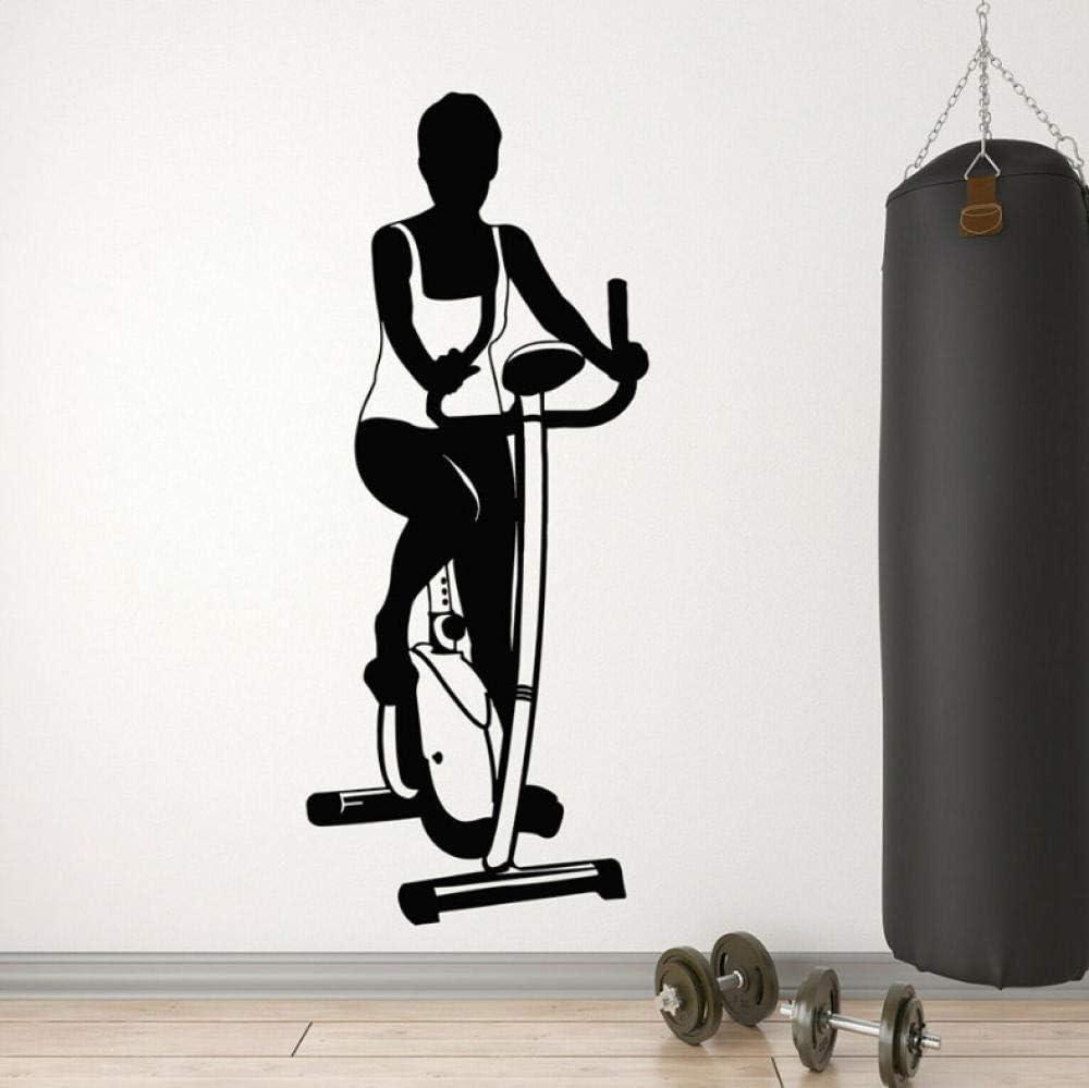 Pegatinas de pared Bicicleta estática deportes salud decoración de ...