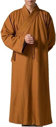 ZanYing Men Meditation Robe Winter Monk Outfit Buddhist Zen Clothing
