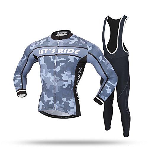 現金すでに曲線LPATTERN メンズ サイクリングジャージ 自転車服 スポーツウエア 長袖ウェアセット 自転車ウエア アウトドア 上下セット 高弾力 吸汗速乾 通気がいい