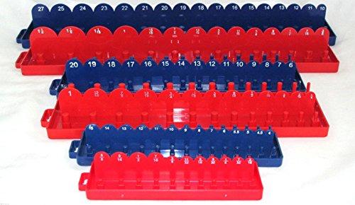 New Hand Tools 6pc 1/4 3/8 1/2 Drive SAE & METRIC Sockets Trays Holders Organizer Hand Tools ()