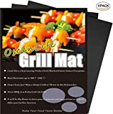 Image of Professional Grill Mat, Set of 4 - Nonstick BBQ Grilling Mats,Heavy Duty Reusable and Easy to Clean of Grill Accessories - 13x16Inch