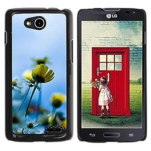 Be Good Phone Accessory // Dura Cáscara cubierta Protectora Caso Carcasa Funda de Protección para LG OPTIMUS L90 / D415 // Blue Yellow Sun Field Summer