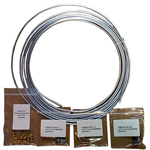 - 25 ft 3/16 in Brake, Fuel, Transmission Line Complete Kit - Galvanized Steel Coil (Includes Fittings)