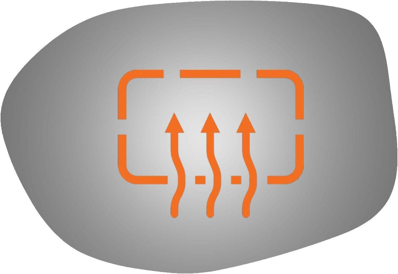 Passenger Side Power Replacement Door Mirror Glass for 14-17 HONDA ODYSSEY