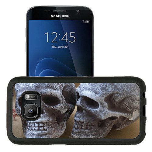 [Luxlady Premium Samsung Galaxy S7 Aluminum Backplate Bumper Snap Case IMAGE ID: 31625303 skull image for party] (Quick And Creative Halloween Costumes)