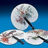 Lot of 12 Paper Oriental Folding Fans Wedding Asst Styles
