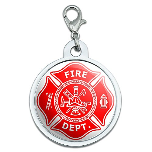 firefighter-firemen-maltese-cross-red-large-chrome-plated-metal-pet-dog-cat-id-tag