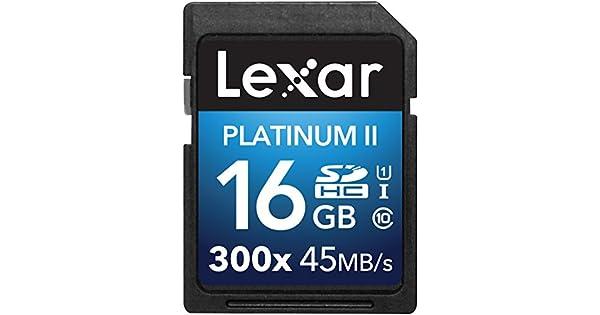 Amazon.com: Lexar Platinum II 300x SDHC UHS-I/U1 - Tarjeta ...