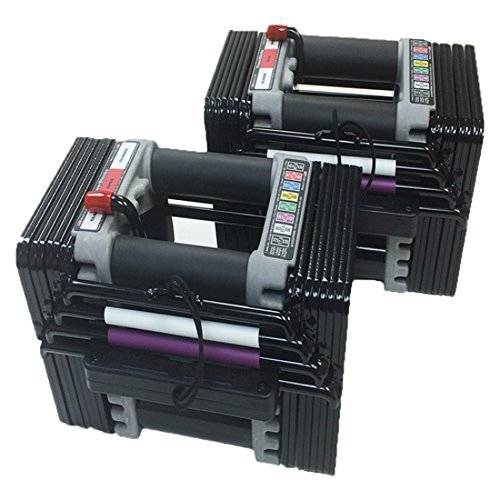 PowerBlock Elite 90 Adjustable 5 to 90-Pounds per Dumbbell (Elite Block)