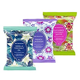 Body Prescriptions Makeup Remover Wipes Bulk, 3 Pack, 90 Facial Cleansing Cloths Removes Makeup, Mascara, Dirt and Oil…
