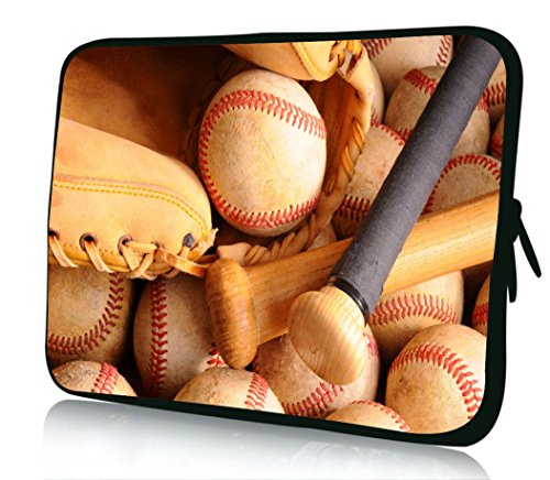 10 inch Rikki Knight Vintage Baseball Equipment With Bat, Balls And Glove Design Laptop sleeve - Ideal for iPad 2,3,4, iPad Air, Galaxy Note, Small Notebooks and other Tablets