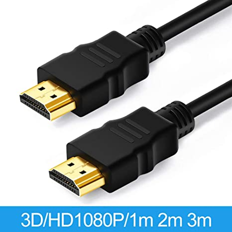 Gold Premium HDMI to HDMI Cable High Speed Lead HDTV LCD 3D Video Xbox 1080p UK