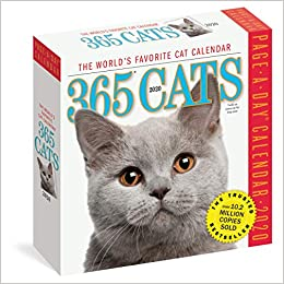 Best Cat Toys 2020.Amazon Com 365 Cats Page A Day Calendar 2020 9781523506965