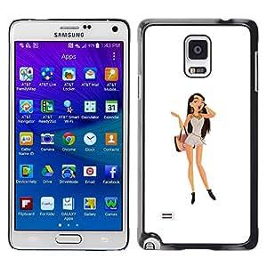 Caucho caso de Shell duro de la cubierta de accesorios de protección BY RAYDREAMMM - Samsung Galaxy Note 4 - Brunette del polluelo