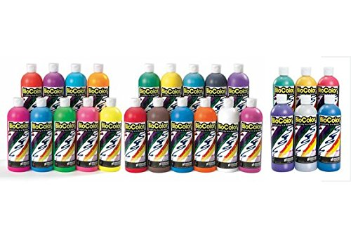 BioColor Paint, Original, Fluorescent & Metallic Colors, 16 oz. - Set of All 26 (Item # BIOALL) by BioColor