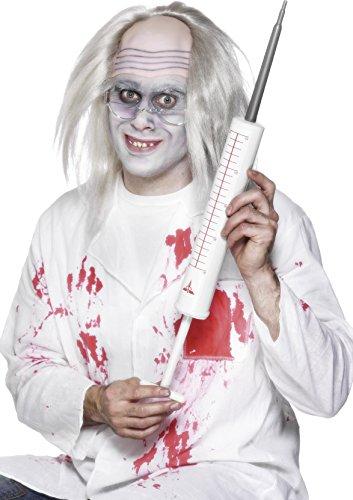 [Smiffy's Adult Unisex Jumbo Syringe, White, 35cm/13.5 inches long, 23104] (Mad Doctor Halloween Costume)
