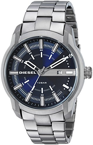 Diesel Men's 'Armbar' Quartz Stainless Steel Casual Watch, Color:Grey (Model: DZ1768)