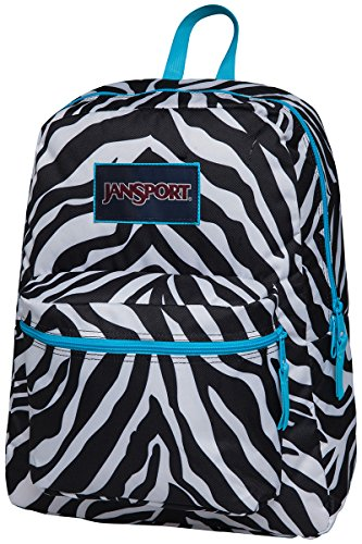 Jansport Overexposed Miss Zebra Mammoth Blue T08W0CX