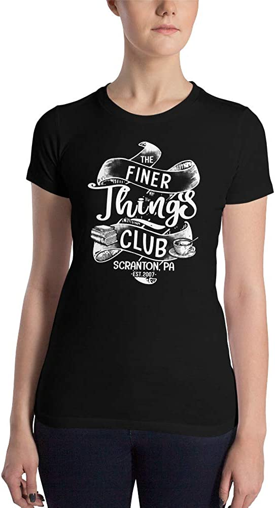 The Office Vintage Ribbon The Finer Things Club Scranton PA Cool Awesome Women's Slim Fit T-Shirt