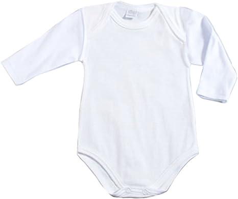 Ellepi AF809NR - Body de manga larga para bebé (lana y algodón), color blanco blanco Talla:0 Mesi: Amazon.es: Bebé