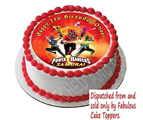 Terrific Power Rangers Personalized Cake Topper Icing Sugar Paper 7 5 Funny Birthday Cards Online Inifodamsfinfo