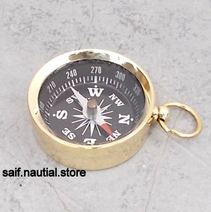 saif.nautical.store Solid Brass Directional Pocket Compass Hiking/Camping/Survival Gear, A by saif.nautical.store