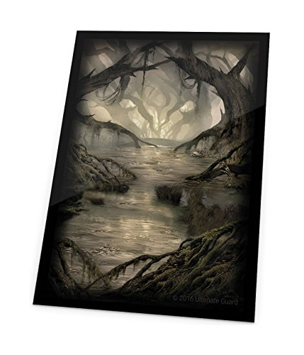 Ultimate Guard Magic The Gathering Sleeves Lands Edition Card Game (80 Pack), Swamp, One Size by Ultimate Guard