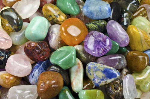 Hypnotic Gems Materials: 3 lbs (BEST VALUE) Medium Brazilian Tumbled Polished Natural Stones Assorted Mix - Gemstone Supplies for Wicca, Reiki, and Energy Crystal HealingWholesale ()
