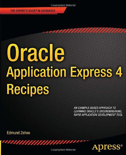 [PDF] Oracle Application Express 4 Recipes Free Download   Publisher : Apress   Category : Computers & Internet   ISBN 10 : 1430235063   ISBN 13 : 9781430235064